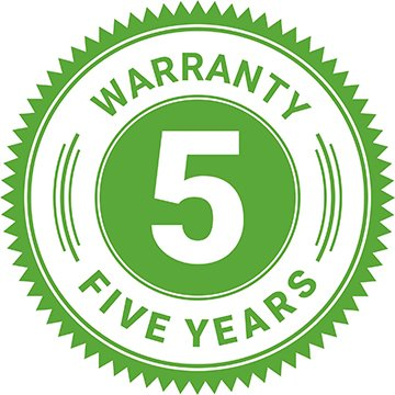5-year warranty for the produced products